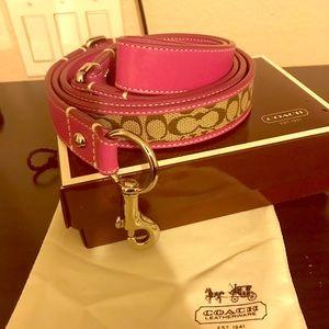 Coach pink dog leash